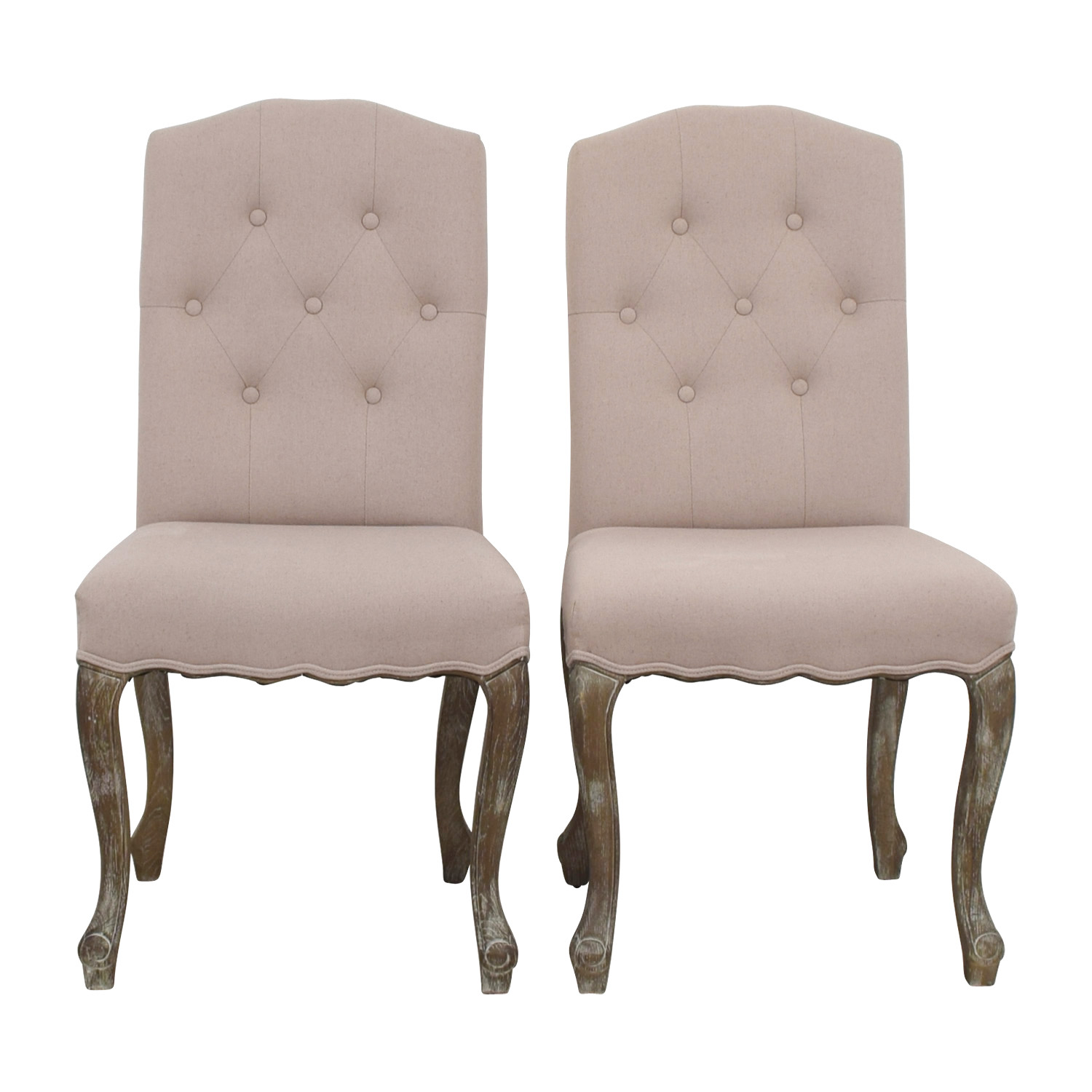 Safavieh Safavieh Tufted Beige Side Chairs for sale