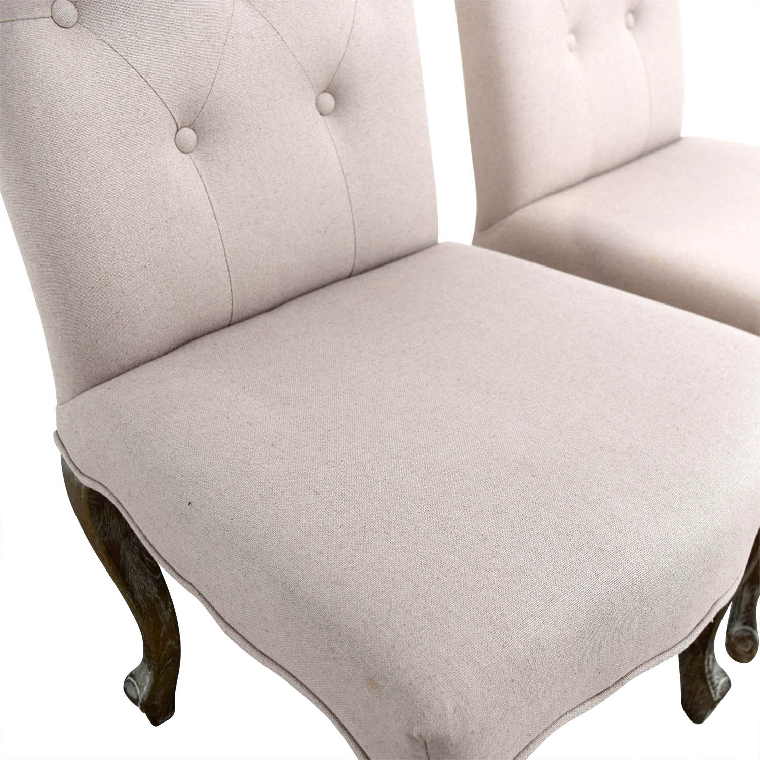 Safavieh Tufted Beige Side Chairs Safavieh