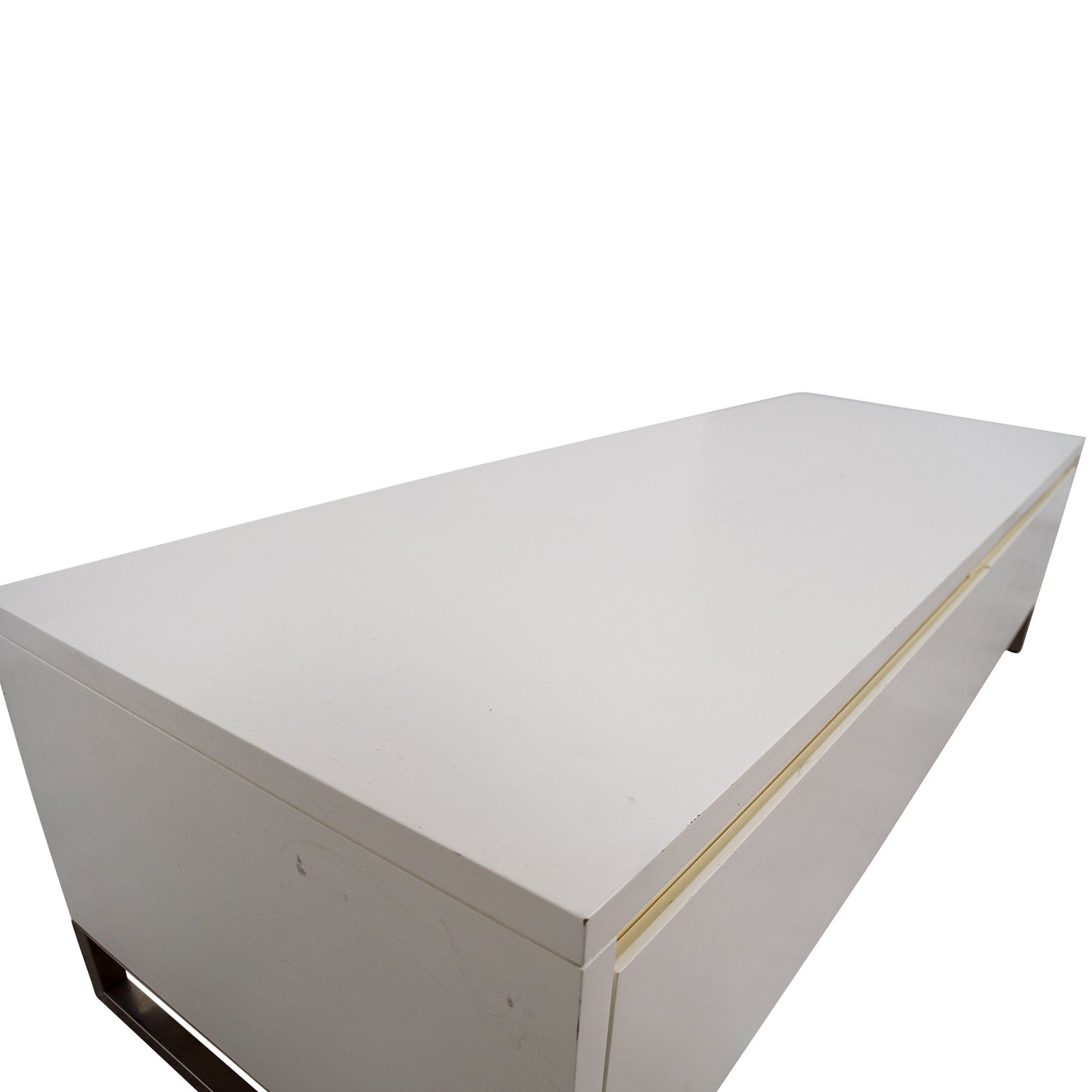 CB2 CB2 White Media Console Cabinet for sale