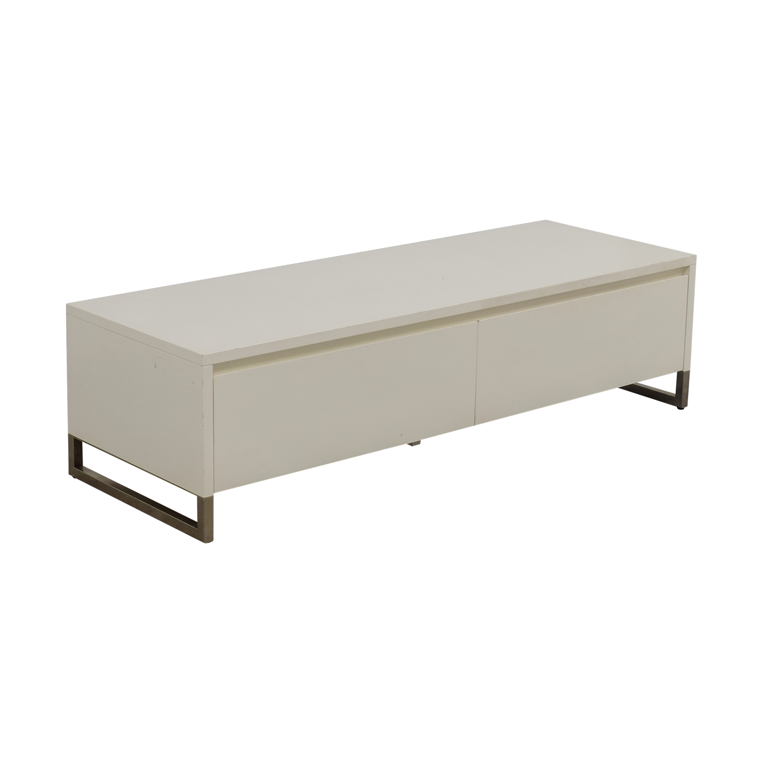 CB2 White Media Console Cabinet / Storage