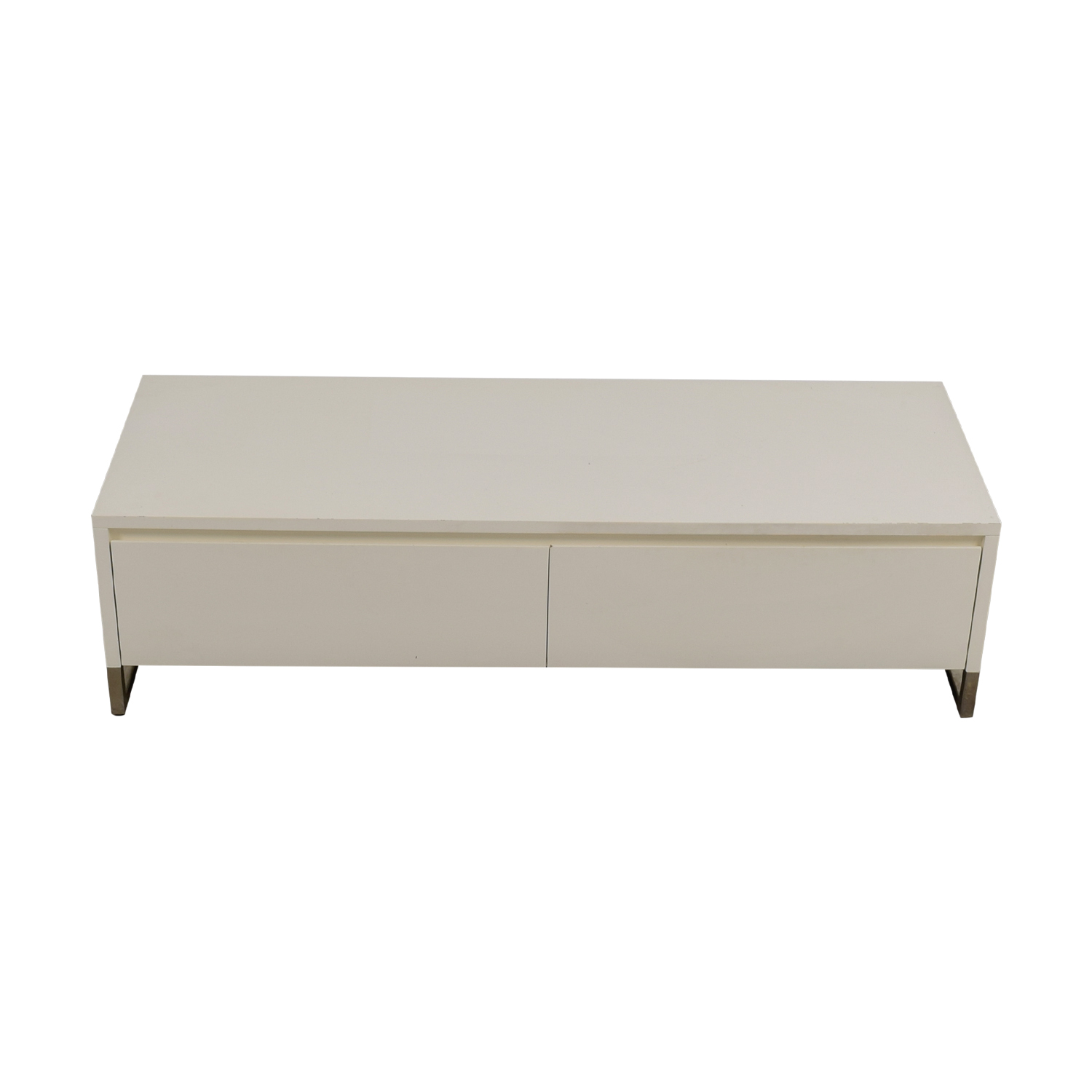 Gianote 54 Media Console Table In Hand Painted Gray White By Stein World