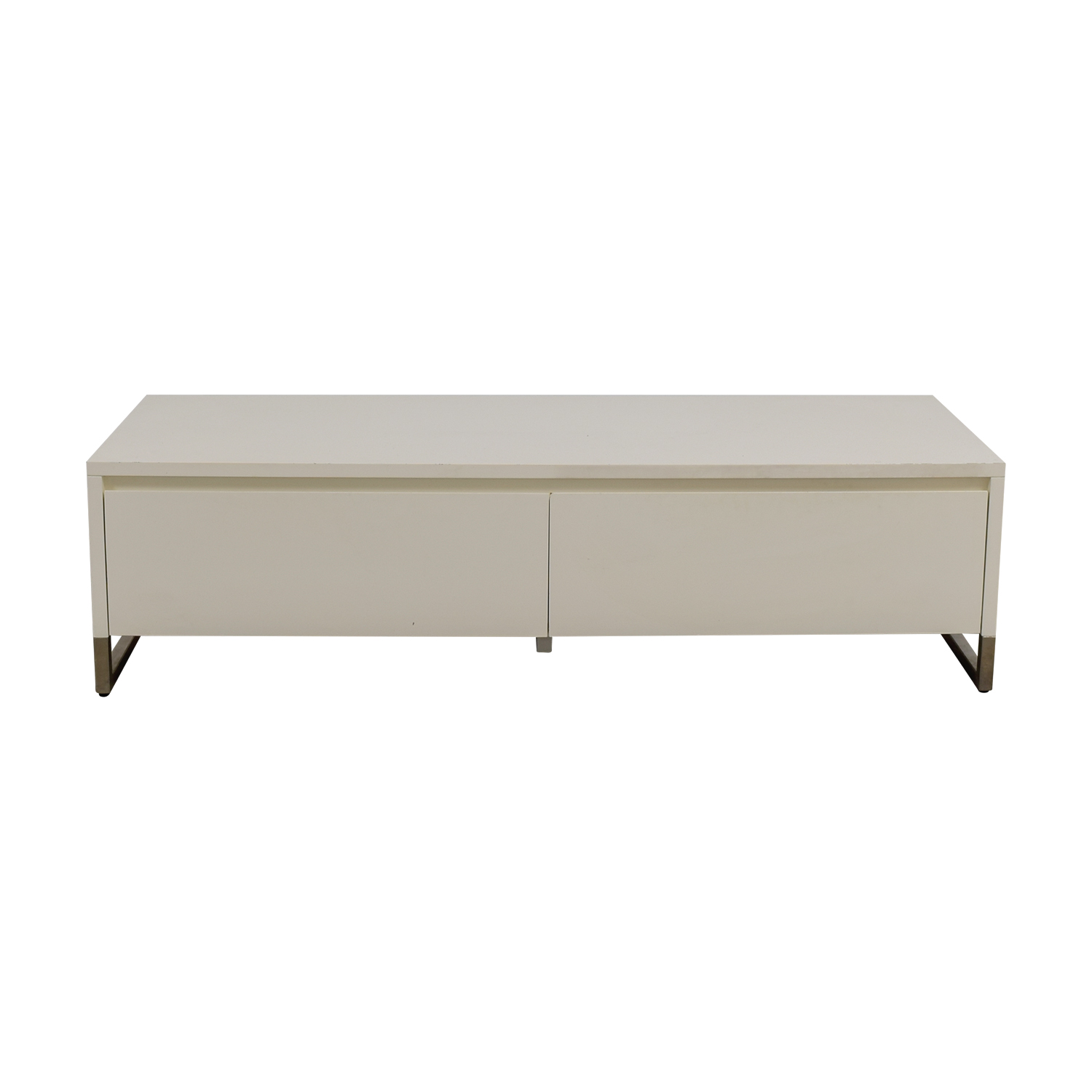 buy CB2 White Media Console Cabinet CB2