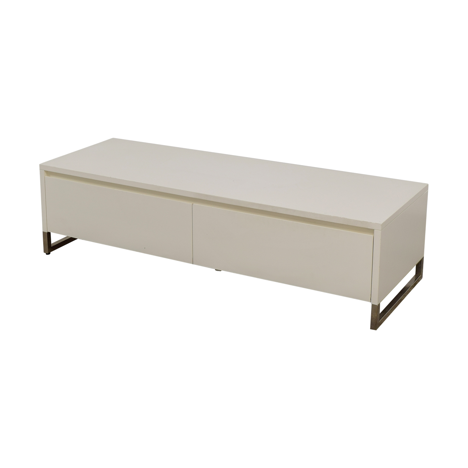 shop CB2 White Media Console Cabinet CB2 Storage