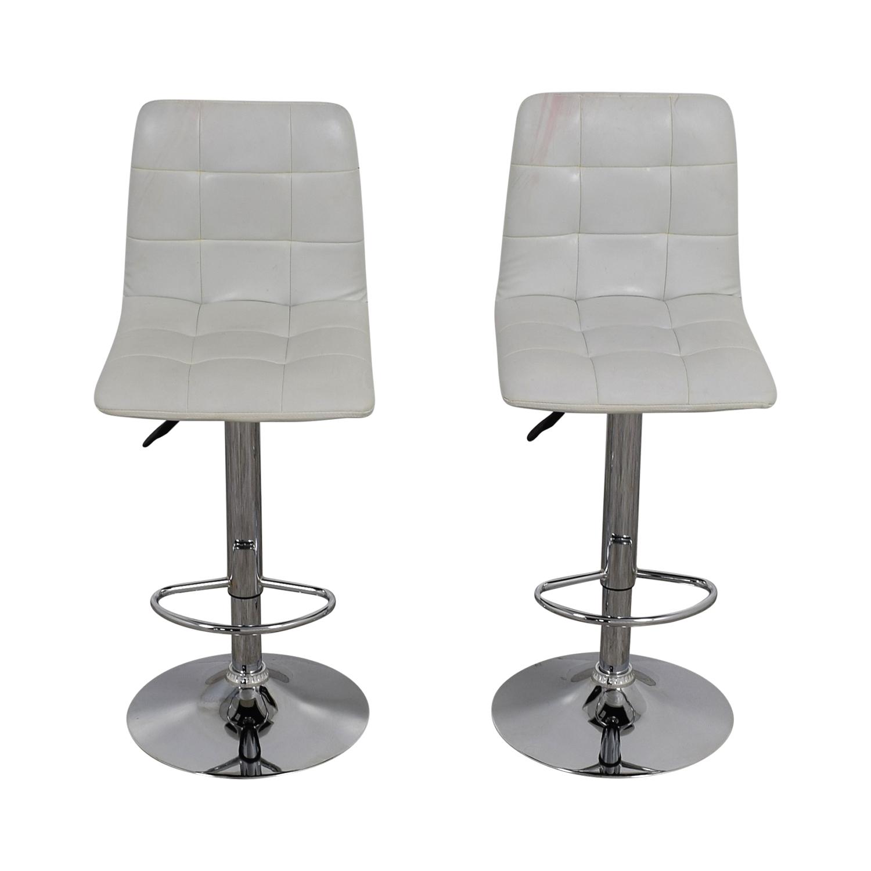 Fine 90 Off Zuo Modern Zuo Modern White Oxygen Bar Stools Chairs Creativecarmelina Interior Chair Design Creativecarmelinacom