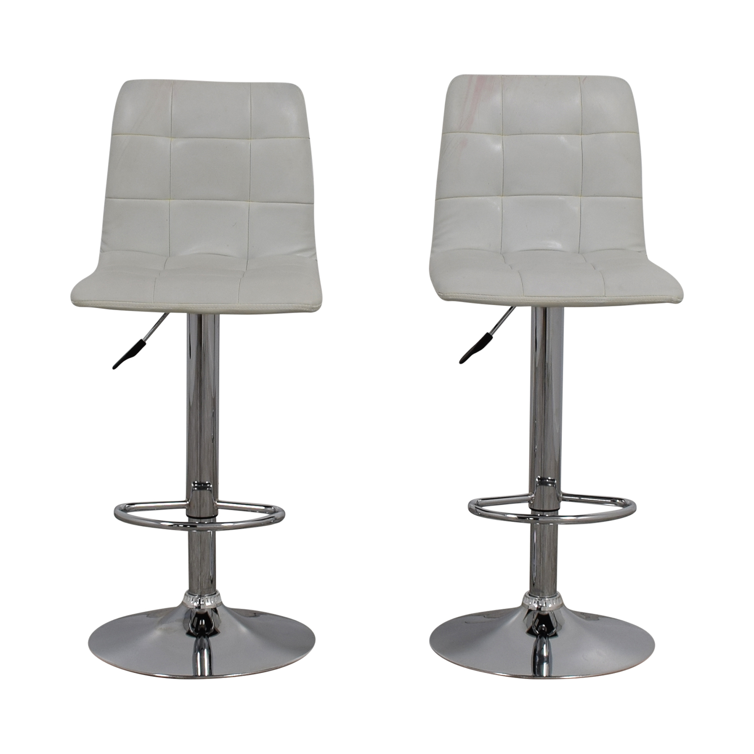 shop Zuo Modern White Oxygen Bar Stools Zuo Modern Chairs