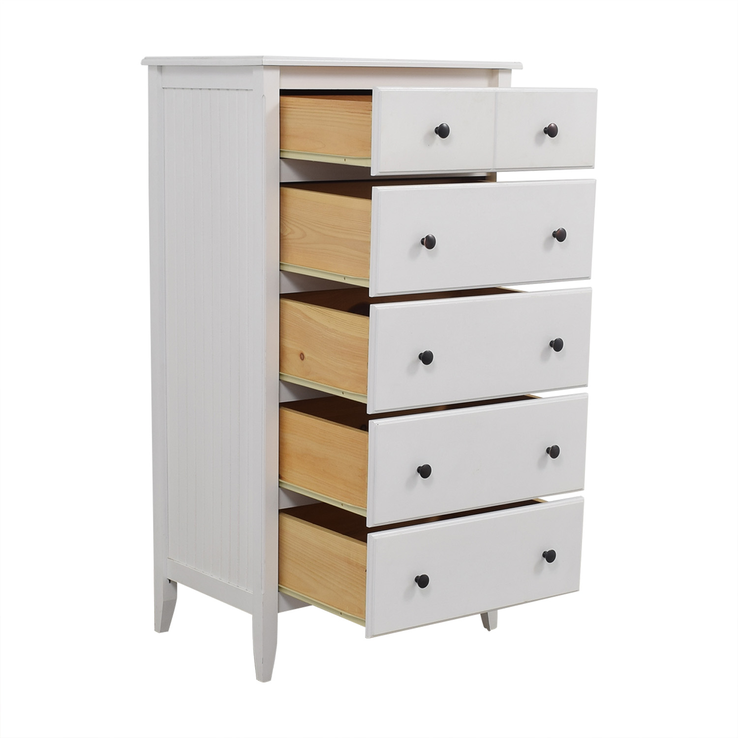 shop Boston Interiors White Beadboard Six-Drawer Dresser Boston Interiors Dressers