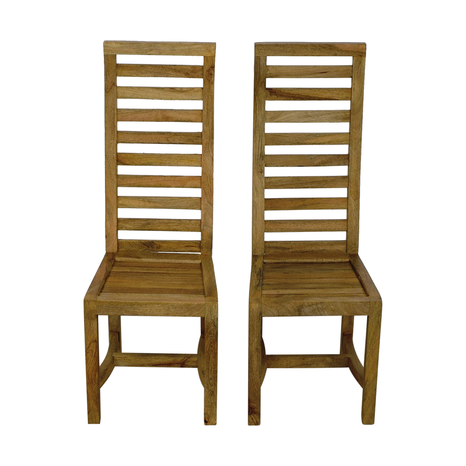 Nadeau Nadeau Rustic High Back Wooden Chairs dimensions