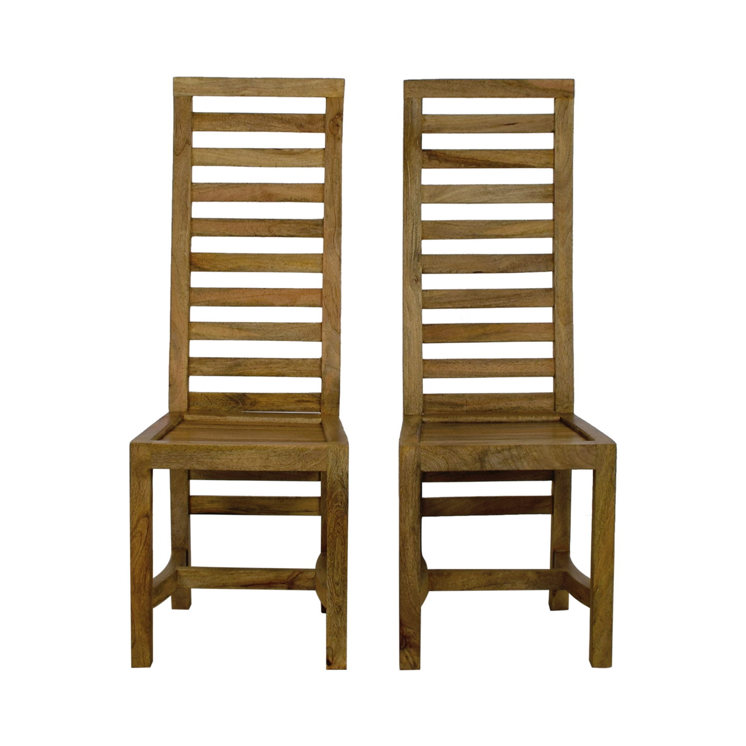 Nadeau Rustic High Back Wooden Chairs Accent