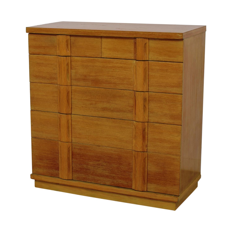 Five-Drawer Rustic Dresser dimensions