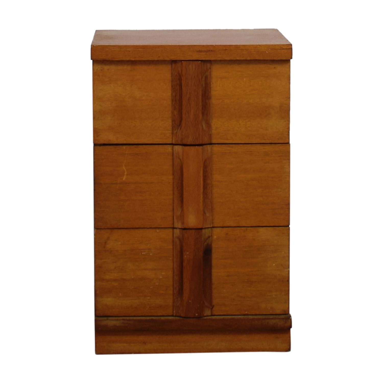 Three-Drawer Wood Short Dresser Dressers