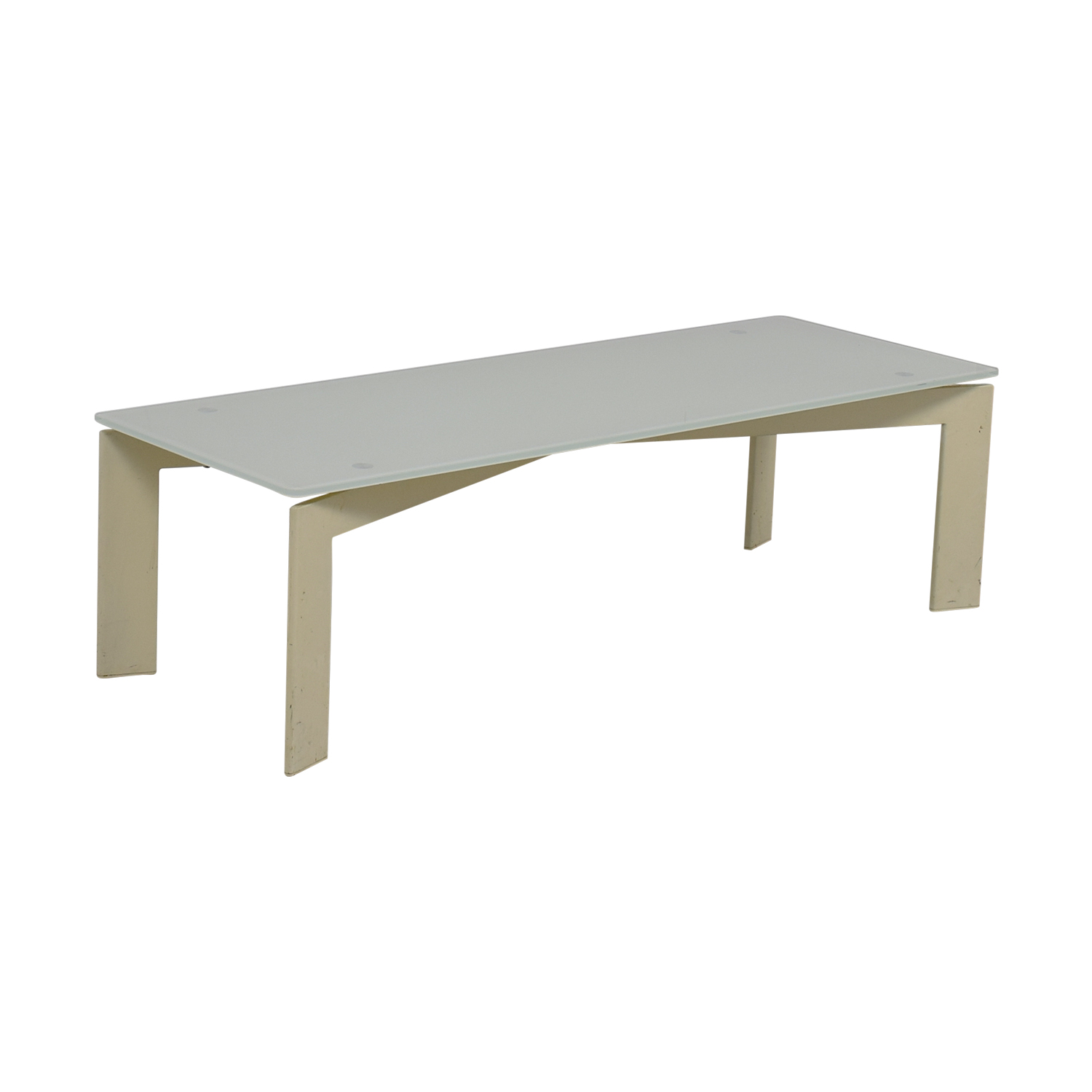 Ikea White Glass Coffee Table