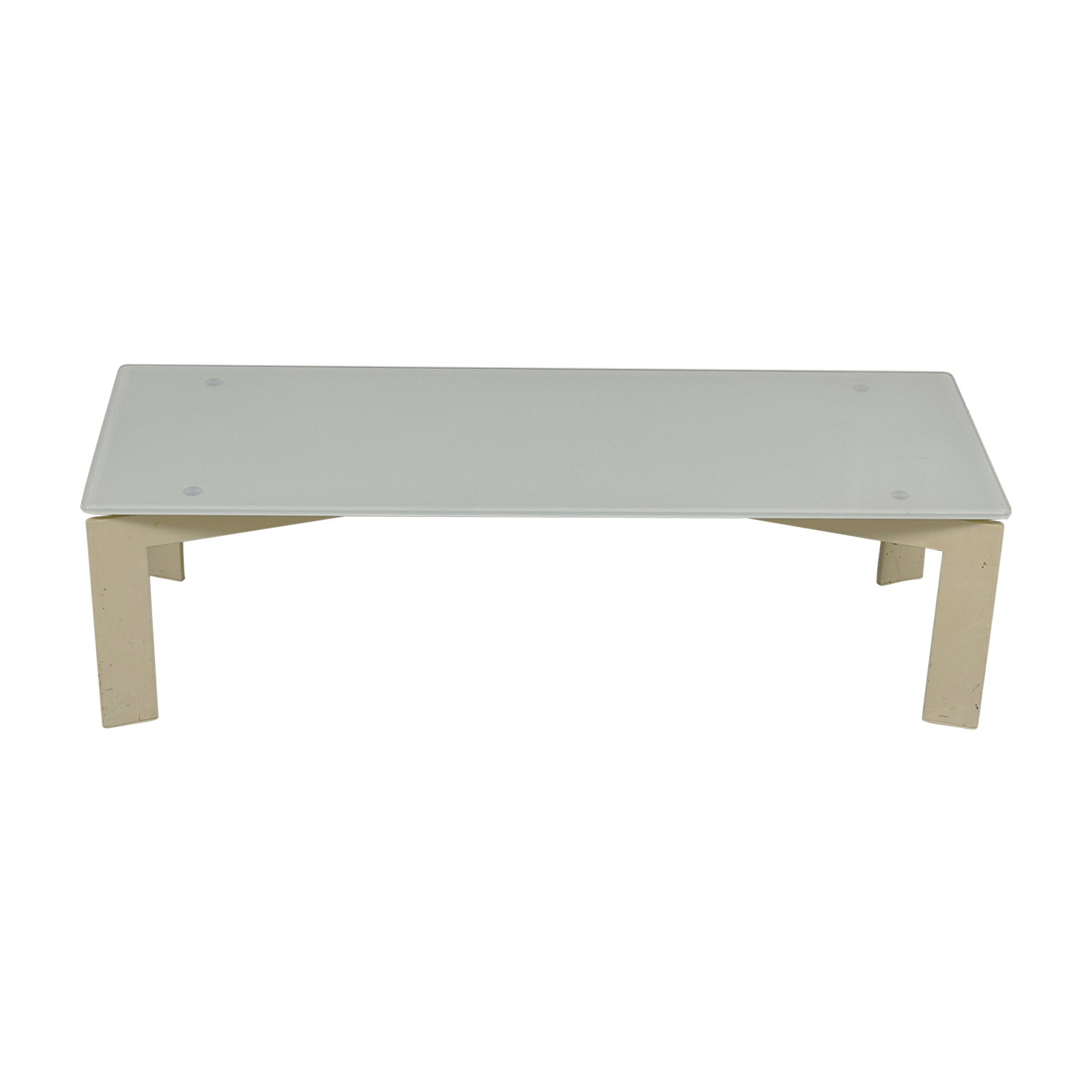 IKEA IKEA White Glass Coffee Table for sale