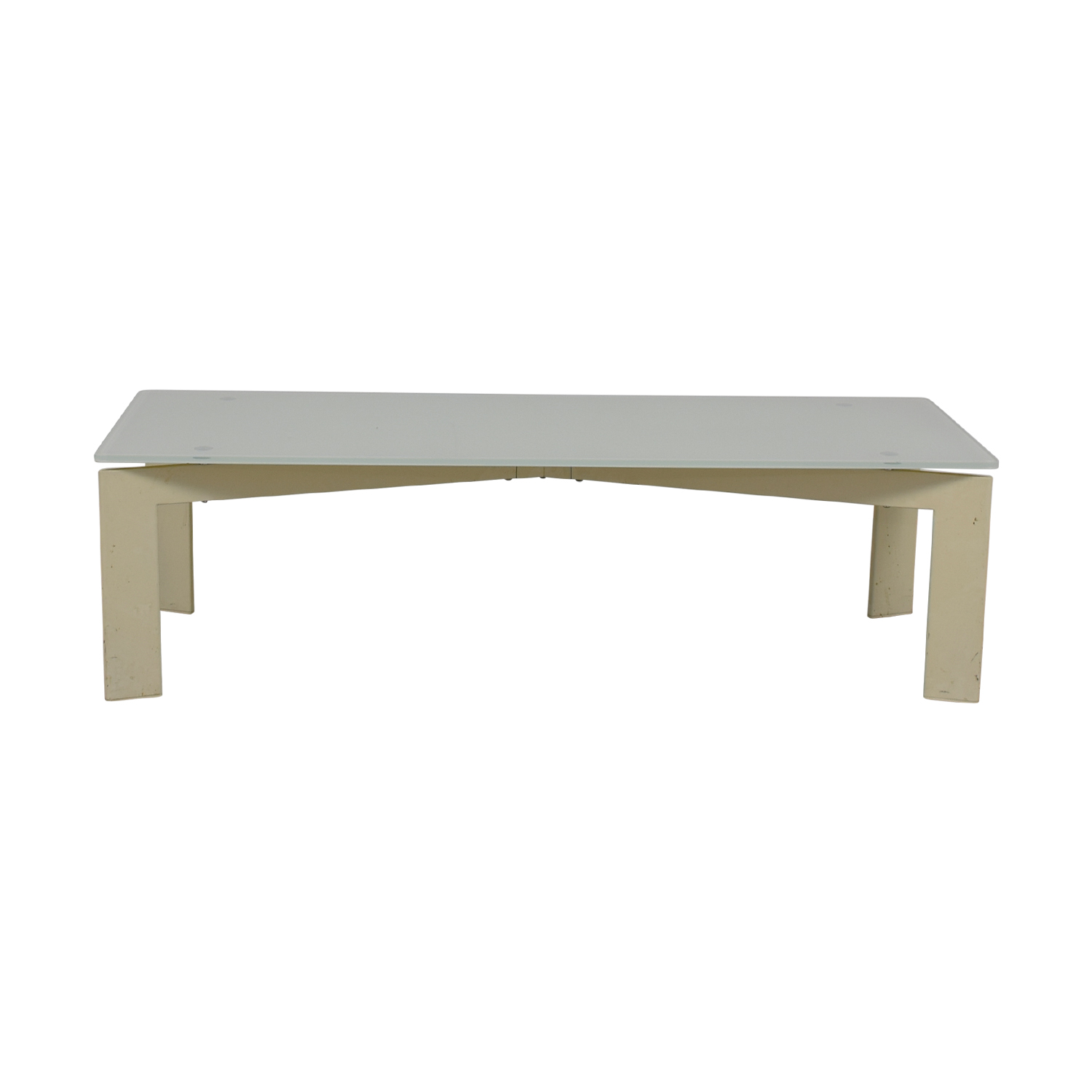 IKEA IKEA White Glass Coffee Table second hand
