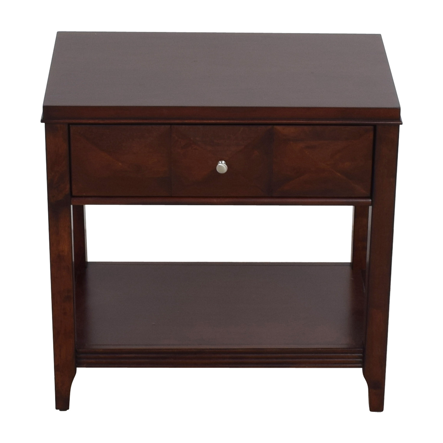 Raymour & Flanigan Shadow Expresso Single Drawer Nightstand / End Tables