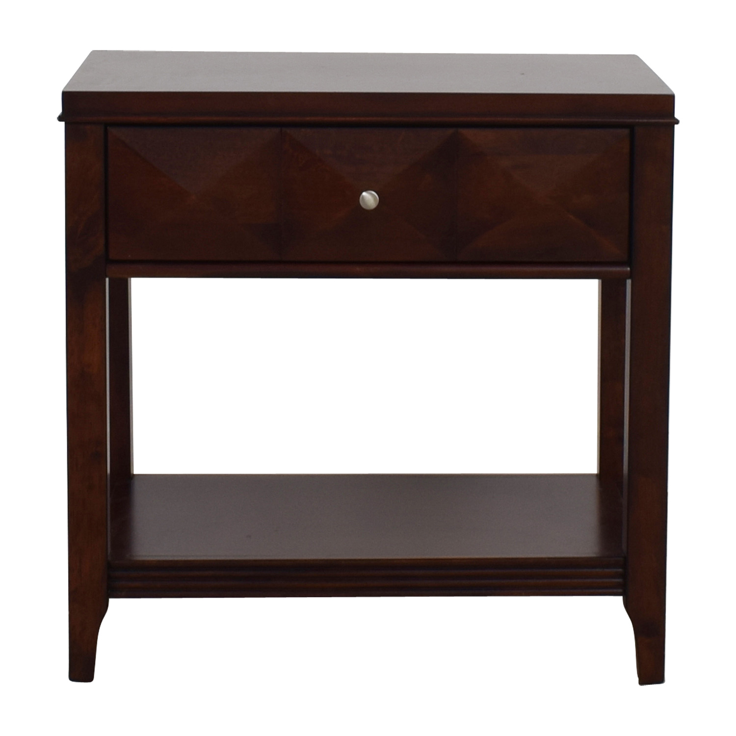 Raymour & Flanigan Raymour & Flanigan Shadow Expresso Single Drawer Nightstand second hand
