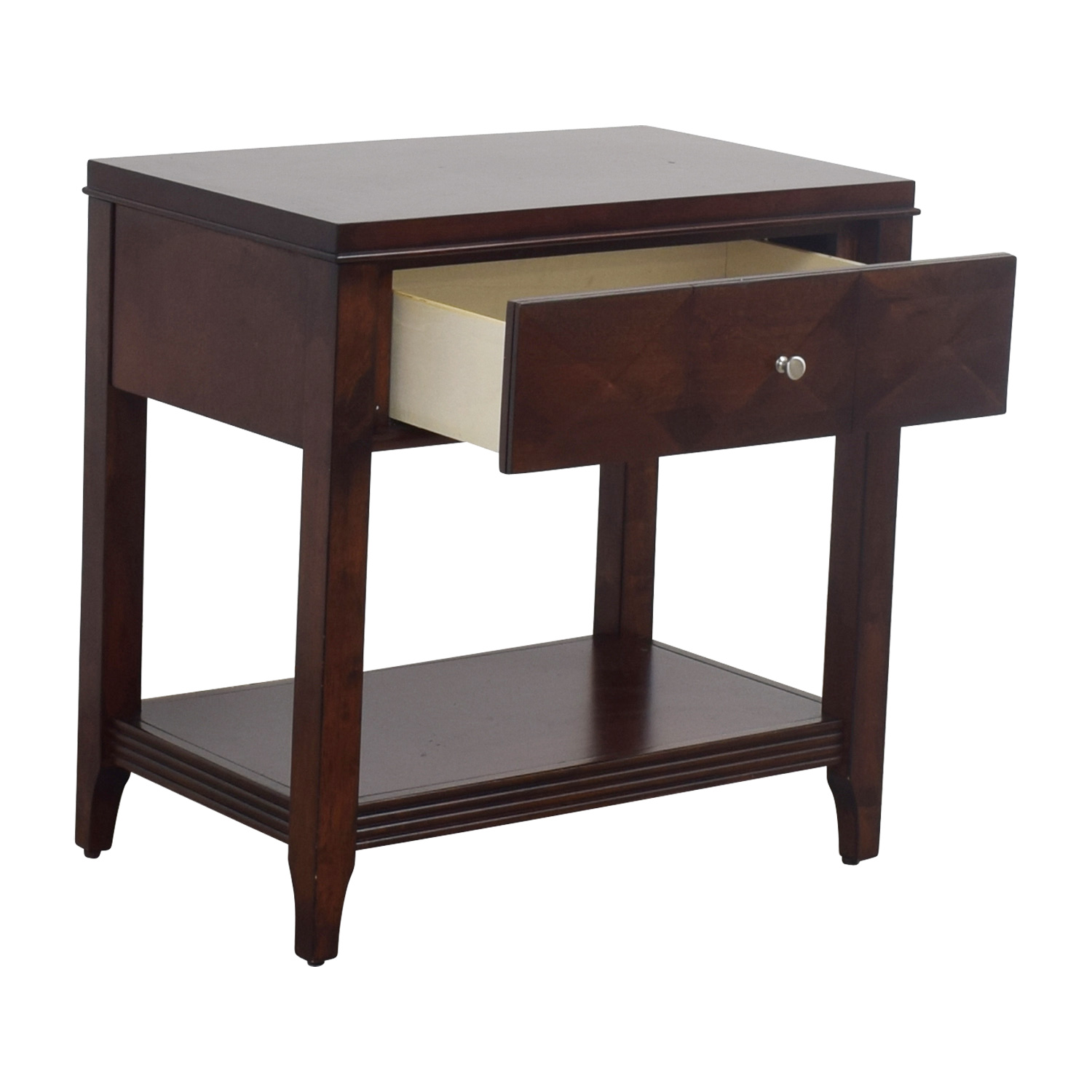 Raymour & Flanigan Raymour & Flanigan Shadow Expresso Single Drawer Nightstand discount
