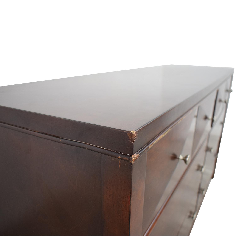 Raymour & Flanigan Raymour & Flanigan Shadow Espresso Six-Drawer Dresser Storage