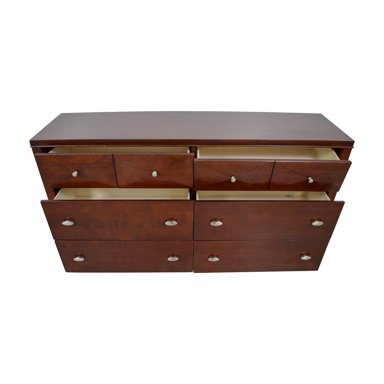 Raymour & Flanigan Raymour & Flanigan Shadow Espresso Six-Drawer Dresser on sale