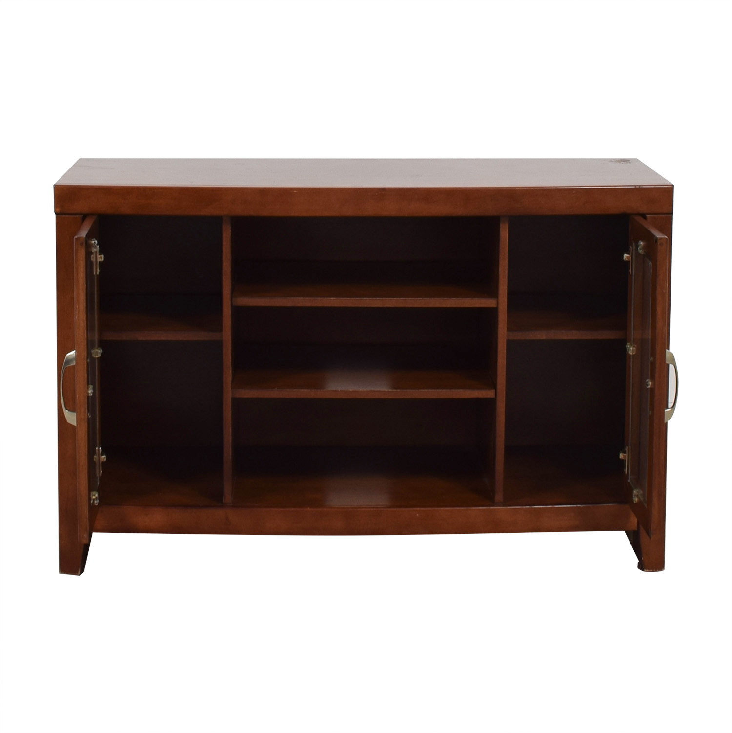 shop Raymour & Flanigan Del Mar Cherry TV Stand Raymour & Flanigan