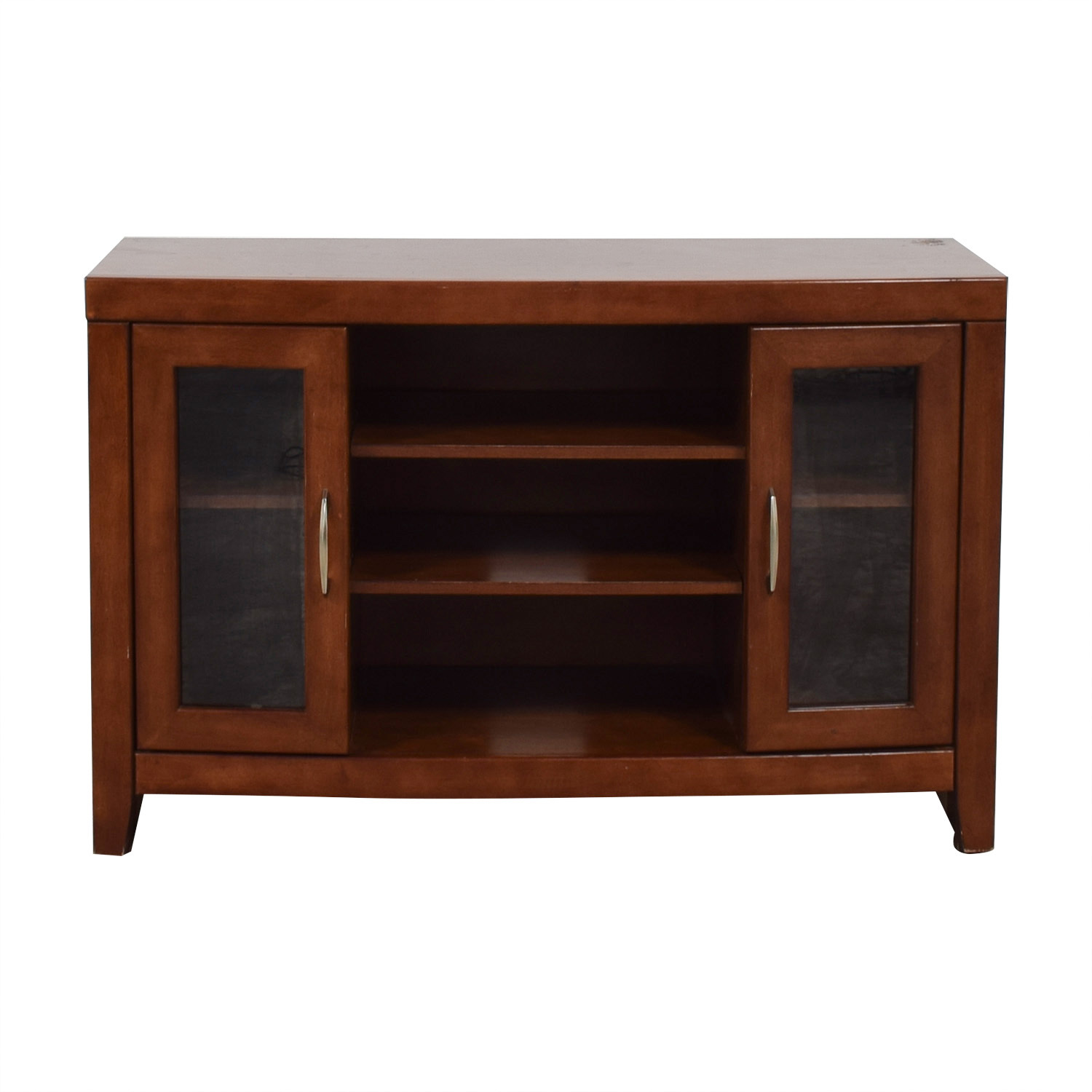 shop Raymour & Flanigan Del Mar Cherry TV Stand Raymour & Flanigan Media Units