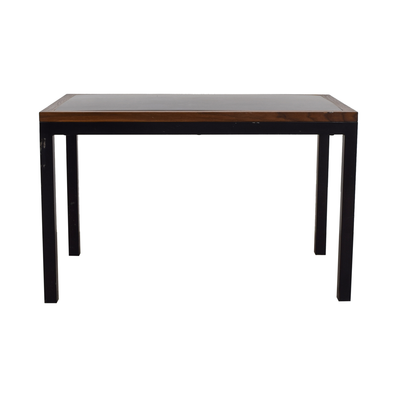 Black Wood and Metal Table sale