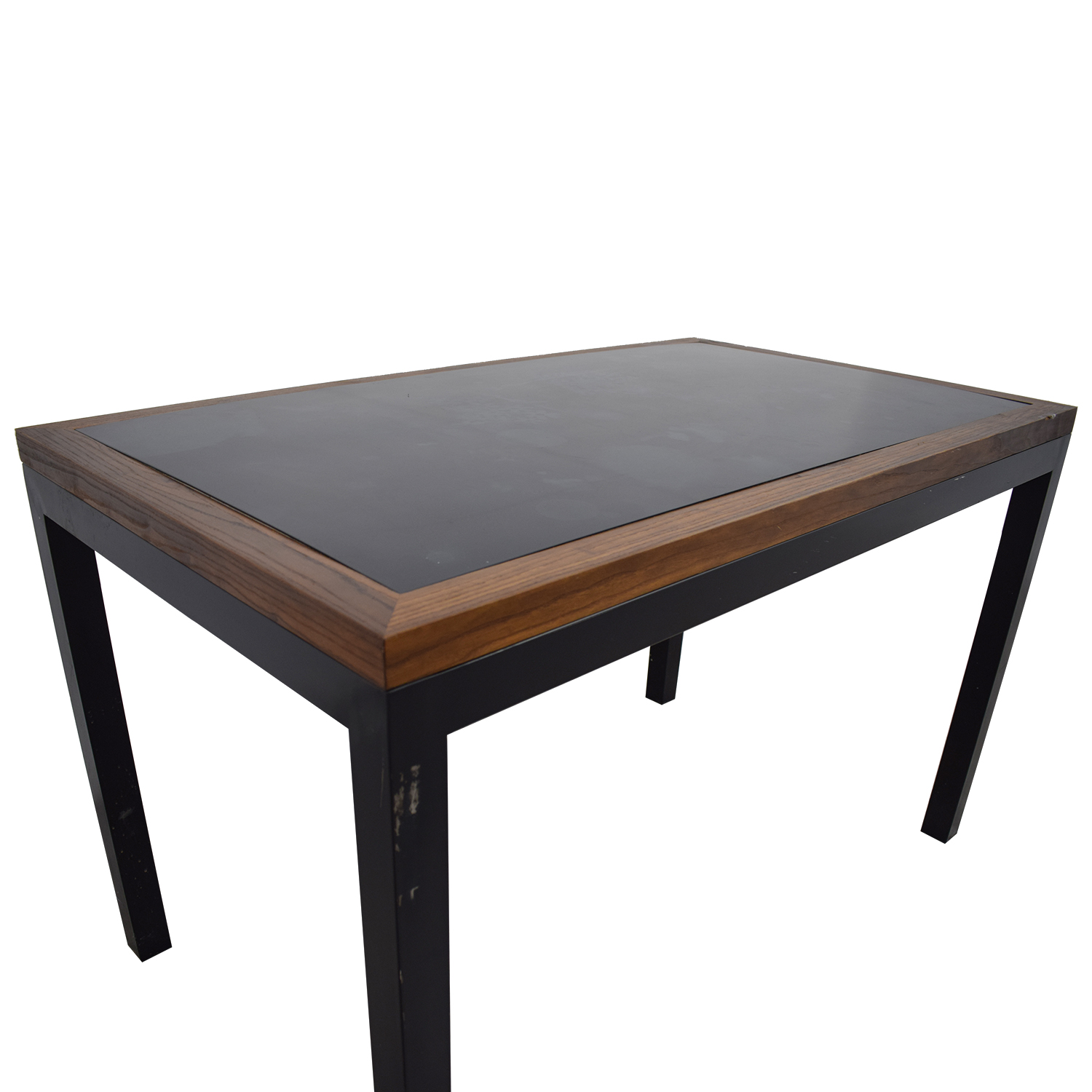 Off black wood and metal table tables