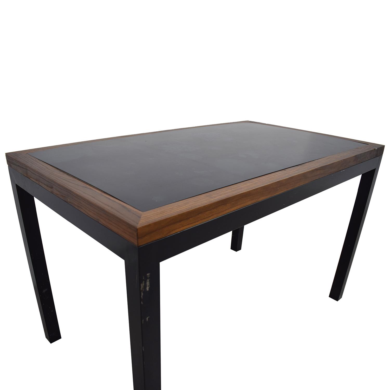 Black Wood and Metal Table BLACK