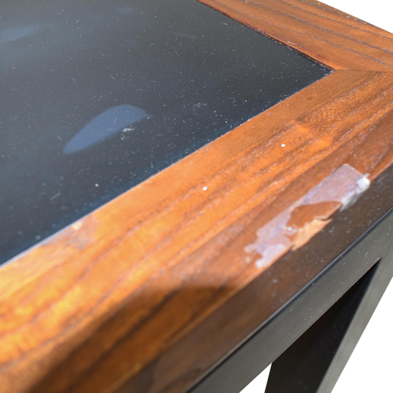 Black Wood and Metal Table