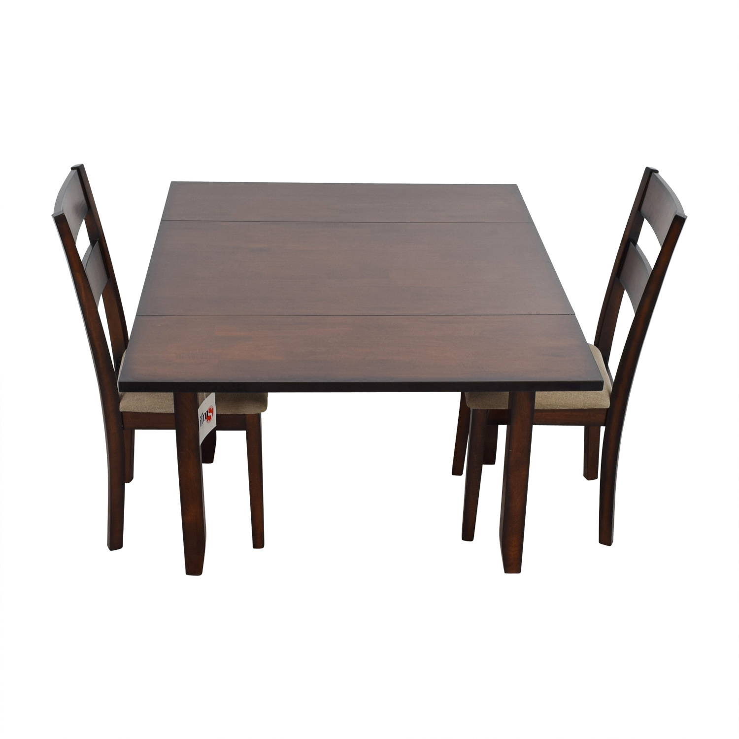 65% OFF - IFM IFM Drop Leaf Table with Two Chairs / Tables