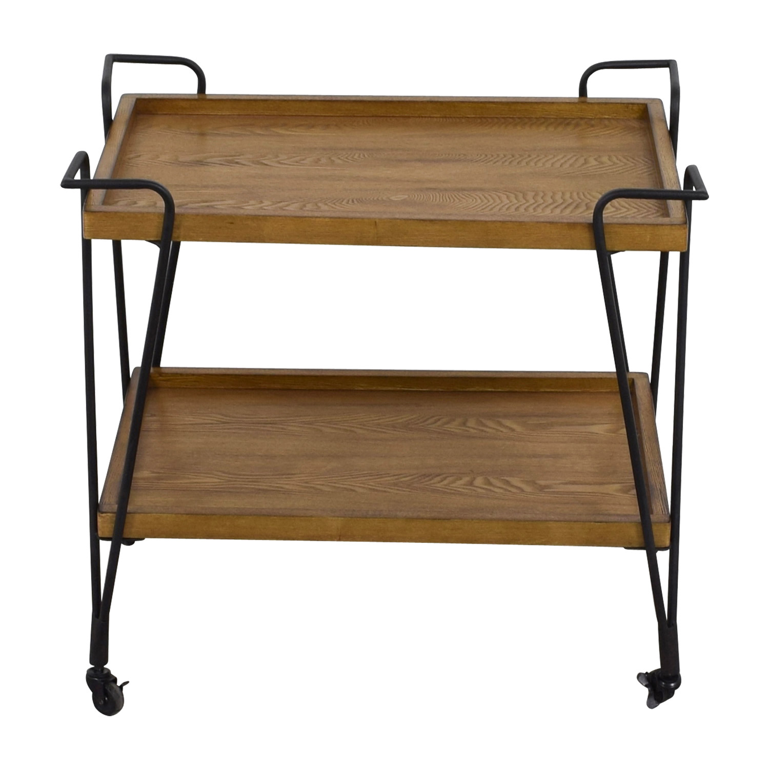 buy Rustic Wood Bar Cart Tables