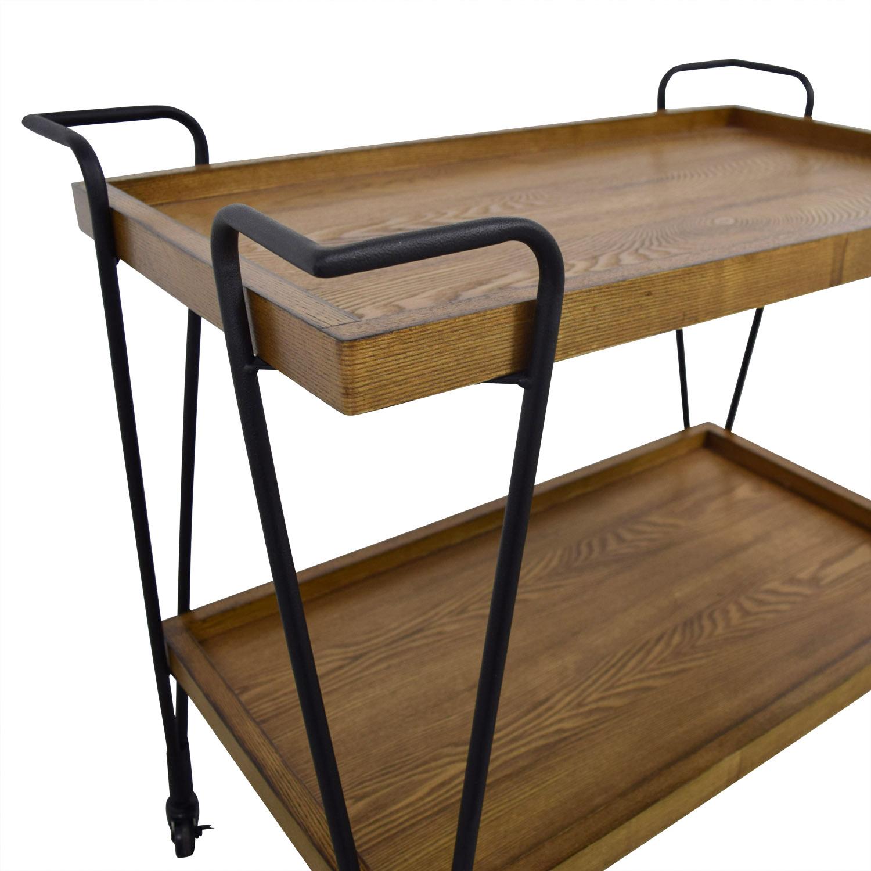 78 Off Rustic Wood Bar Cart Tables