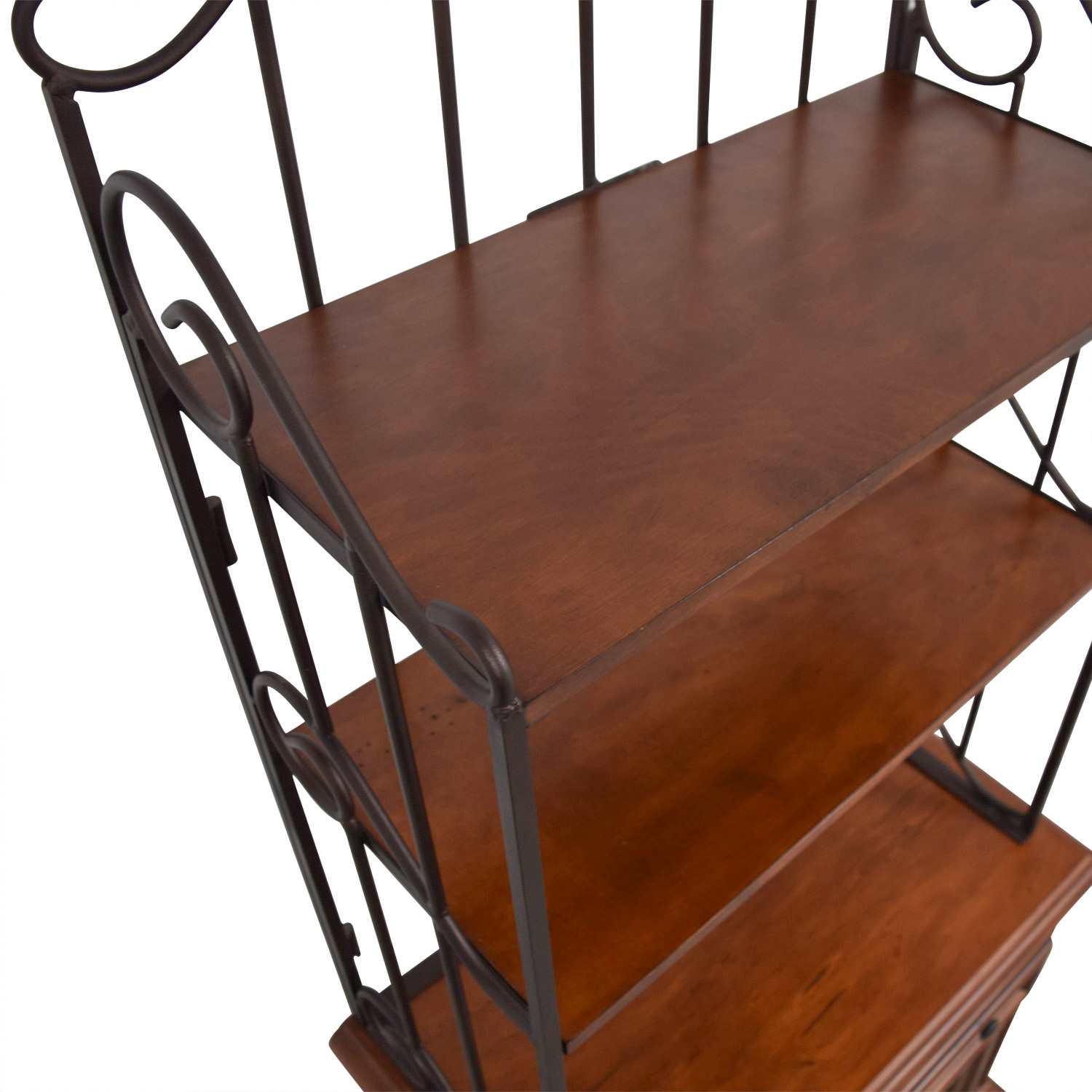 buy Wood and Metal Wine Cabinet Bookcases & Shelving