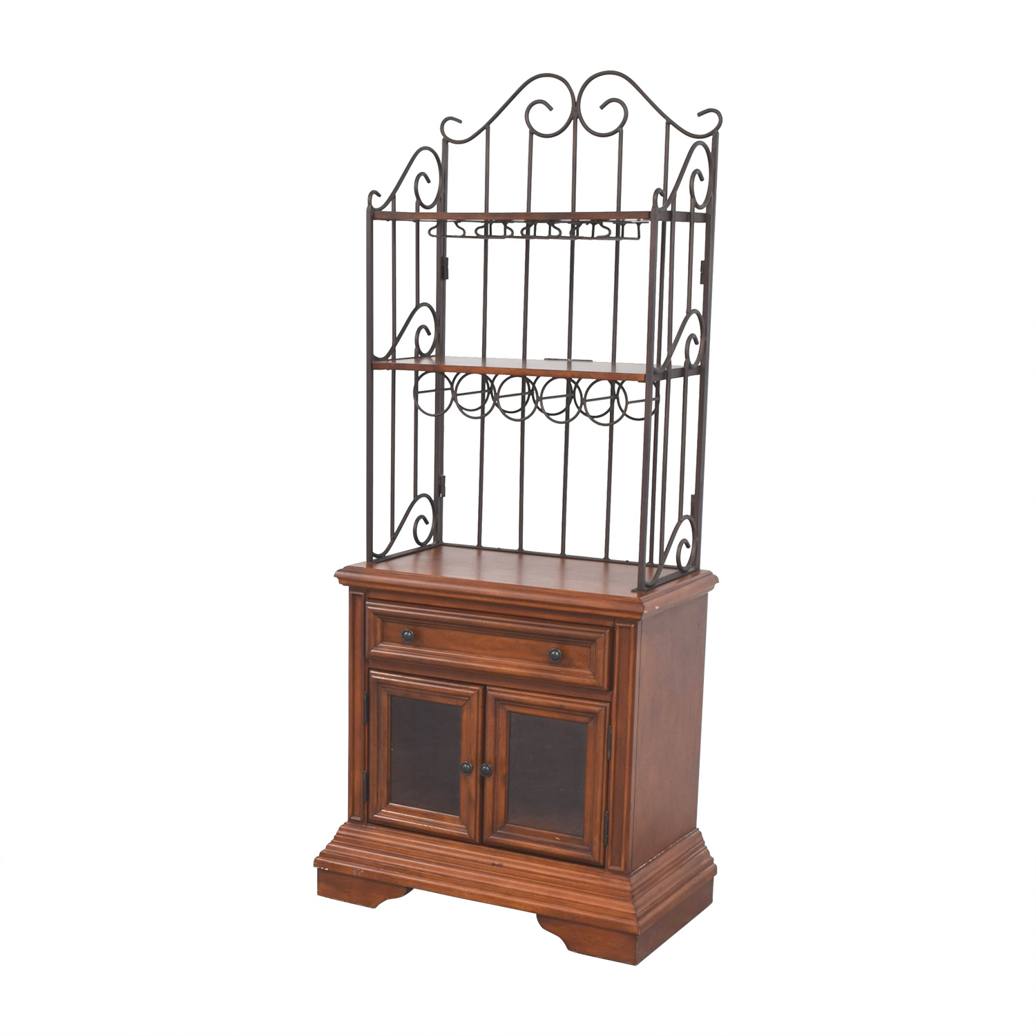 shop Wood and Metal Wine Cabinet online