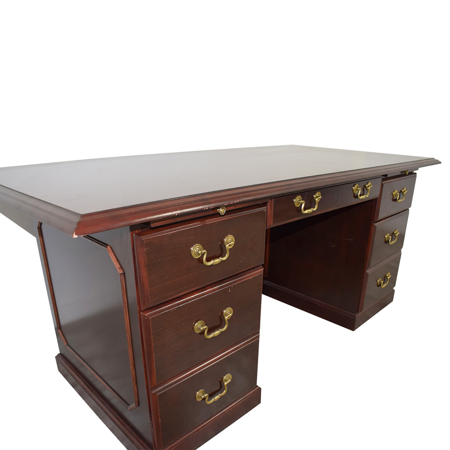 Mahogany Desk with Seven-Drawers / Cabinets & Sideboards