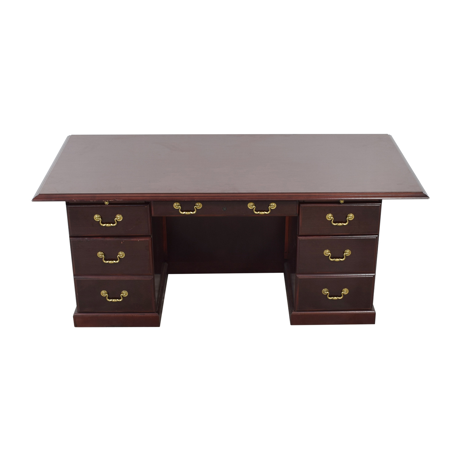 Mahogany Desk with Seven-Drawers for sale