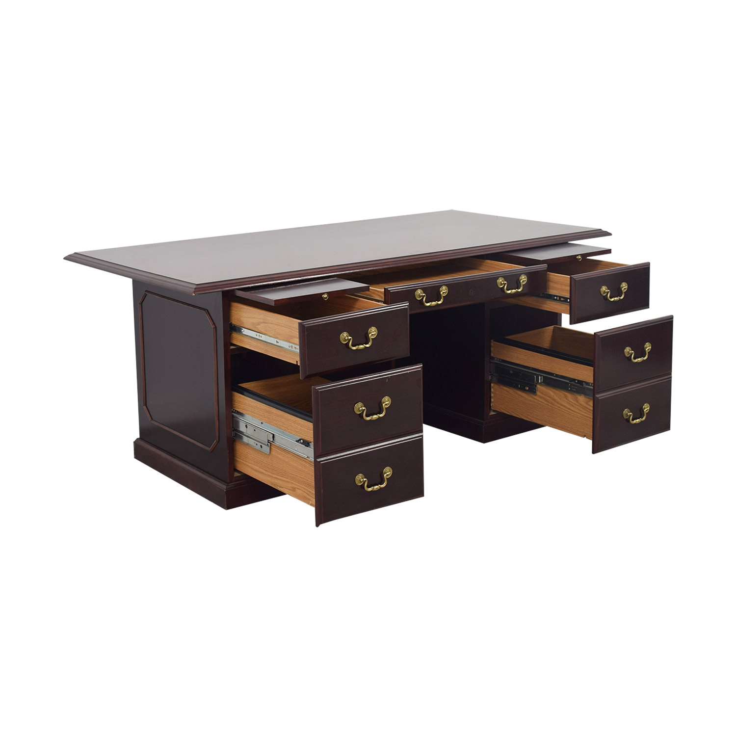 buy Mahogany Desk with Seven-Drawers  Storage