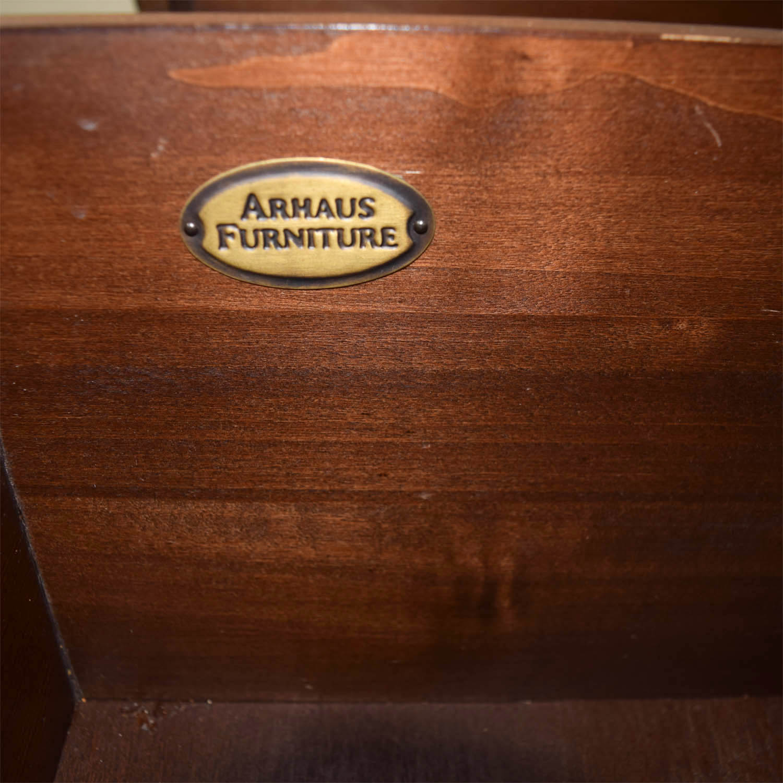 Arhaus Arhaus Rustic Wood Two-Drawer Side Tables for sale