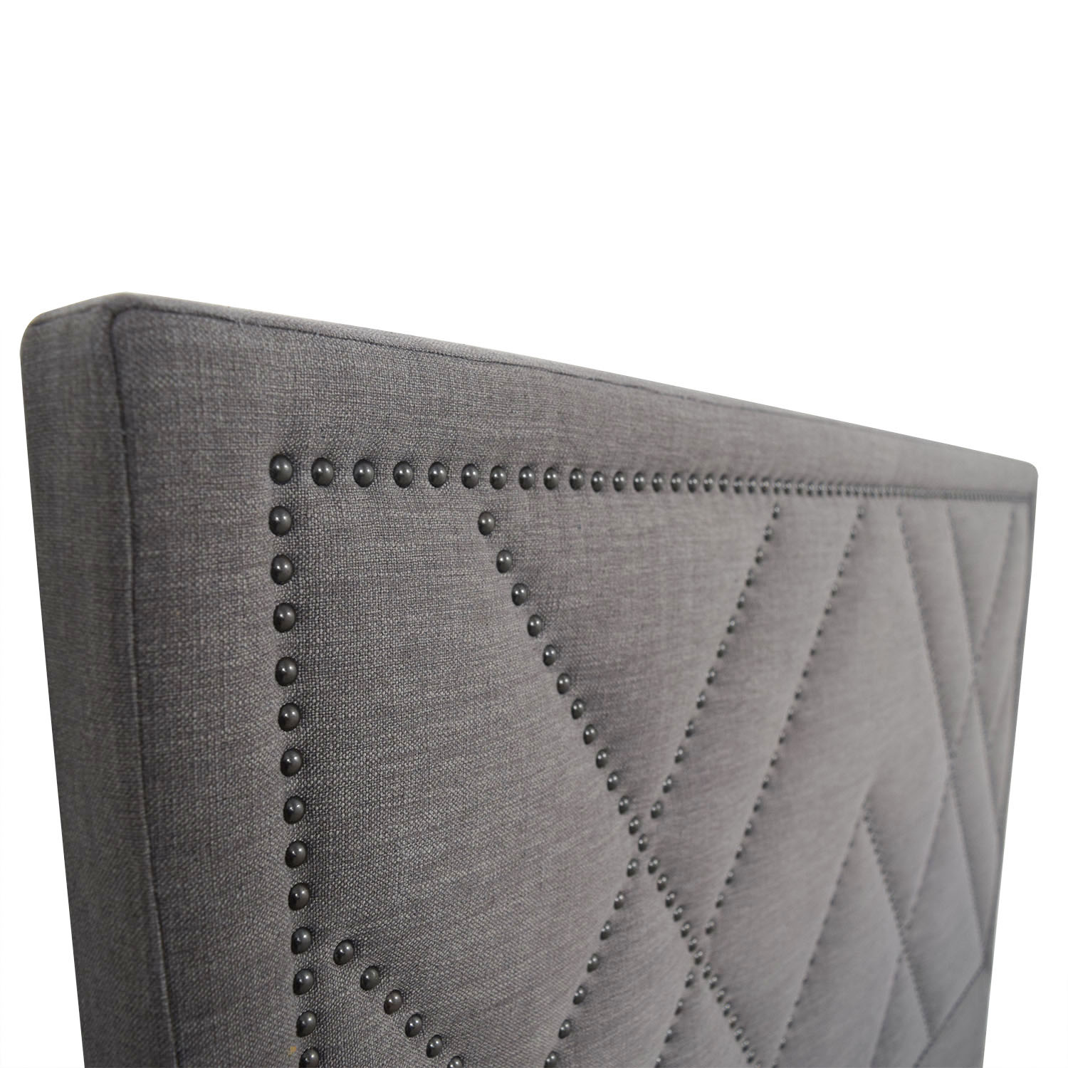 queen upholstered pinterest grey best cloth on lovable headboard king size ideas headboards
