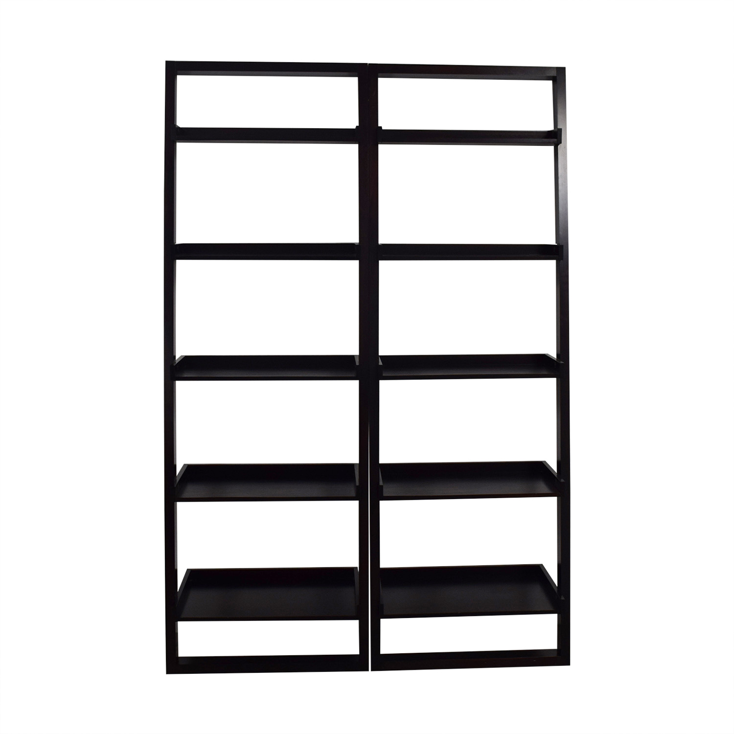 Crate & Barrel Crate & Barrel Leaning Bookshelves discount