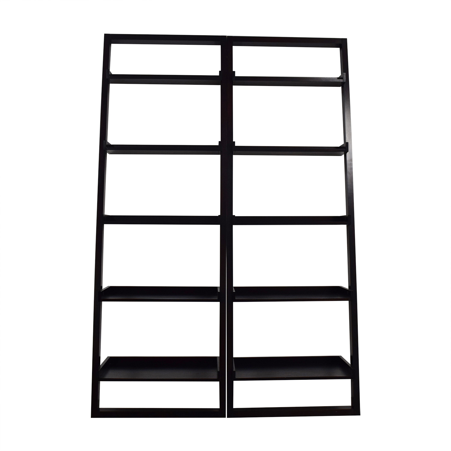 Crate & Barrel Crate & Barrel Leaning Bookshelves second hand