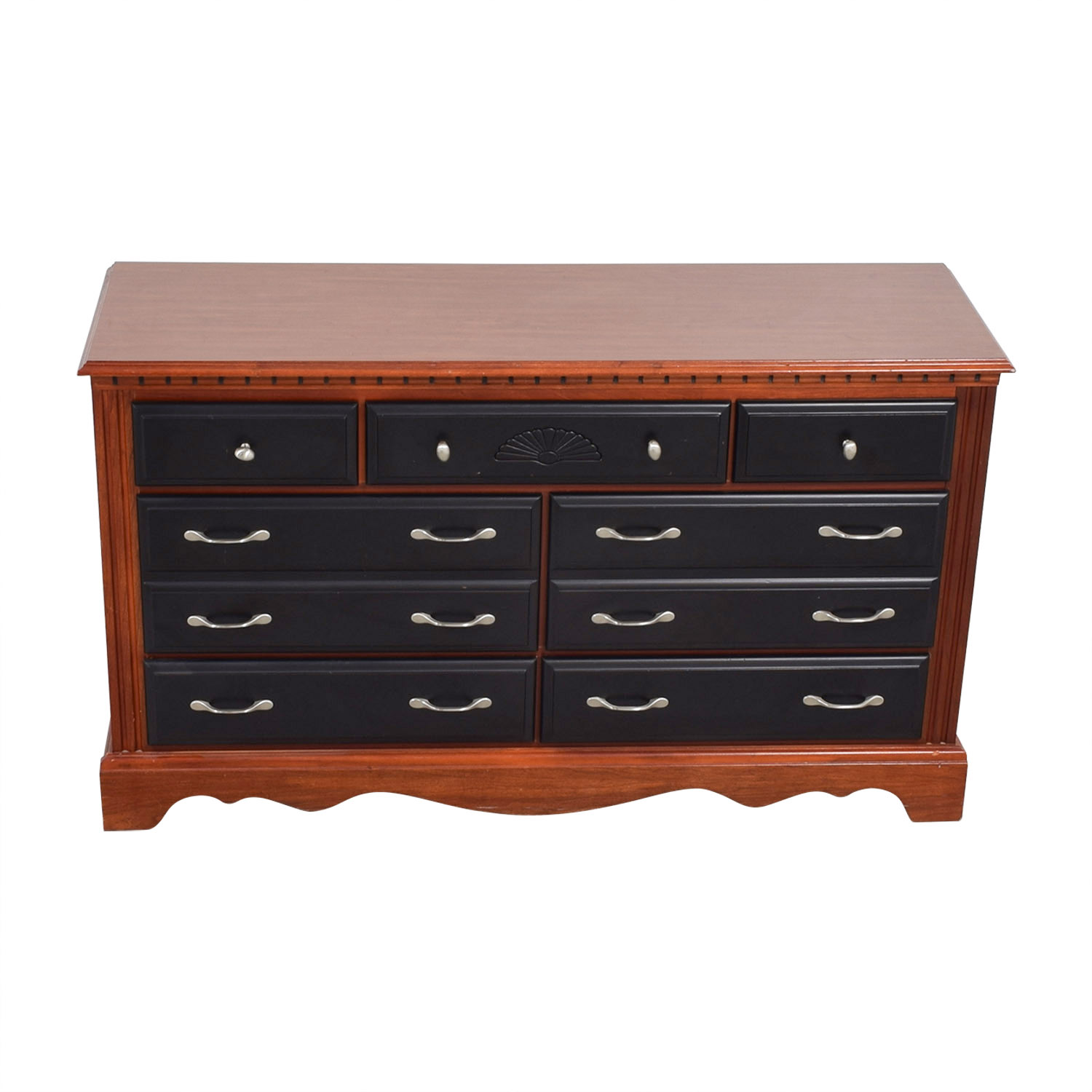 shop Two-Toned Black and Wood Seven-Drawer Dresser Sofas