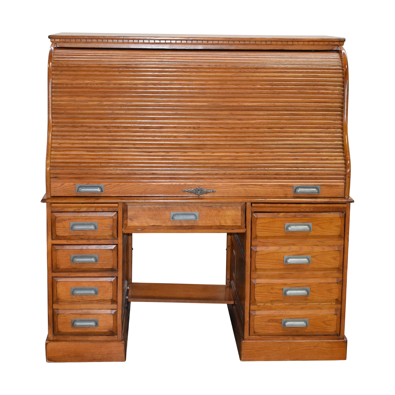 Buy Roll Top Desk With Drawer Storage Home Office Desks ...