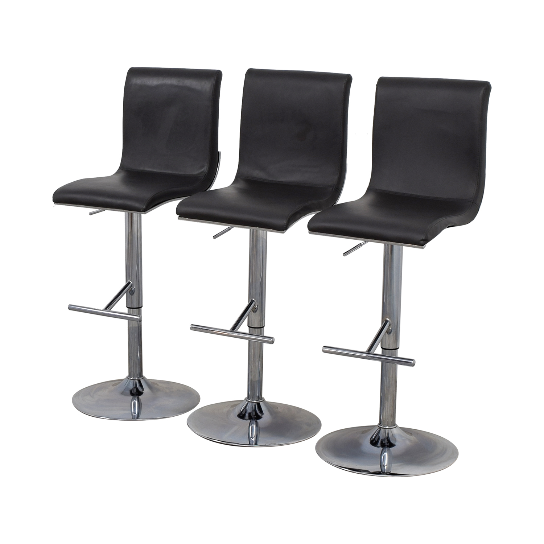 Lumi Source Grey Adjustable Bar Stools / Chairs