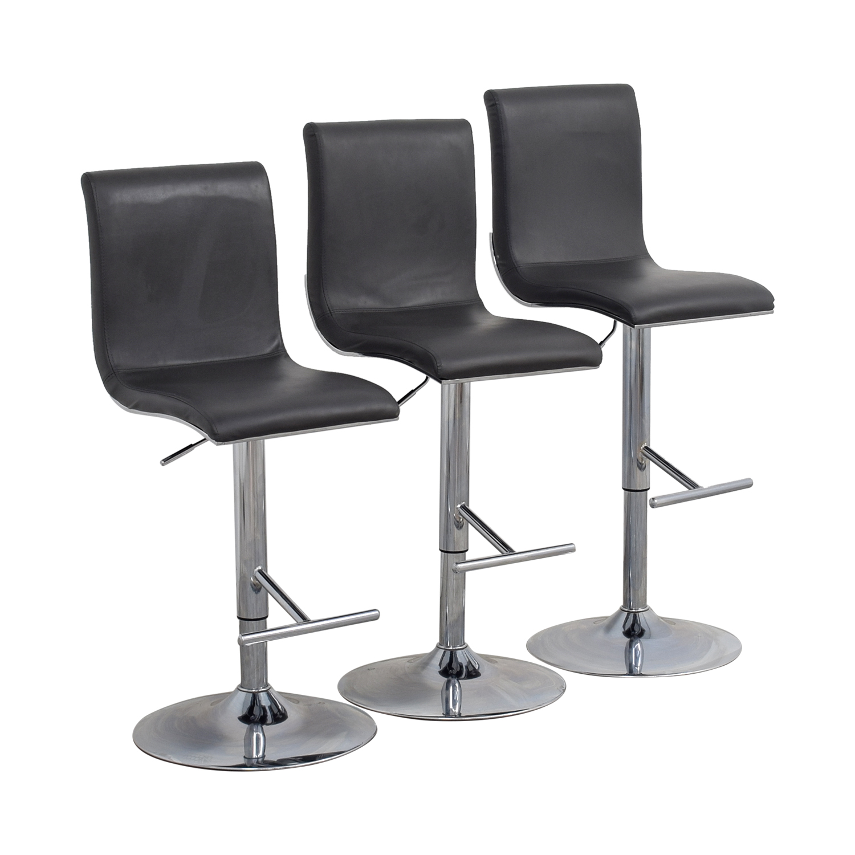 buy Lumi Source Grey Adjustable Bar Stools Lumi Source Chairs