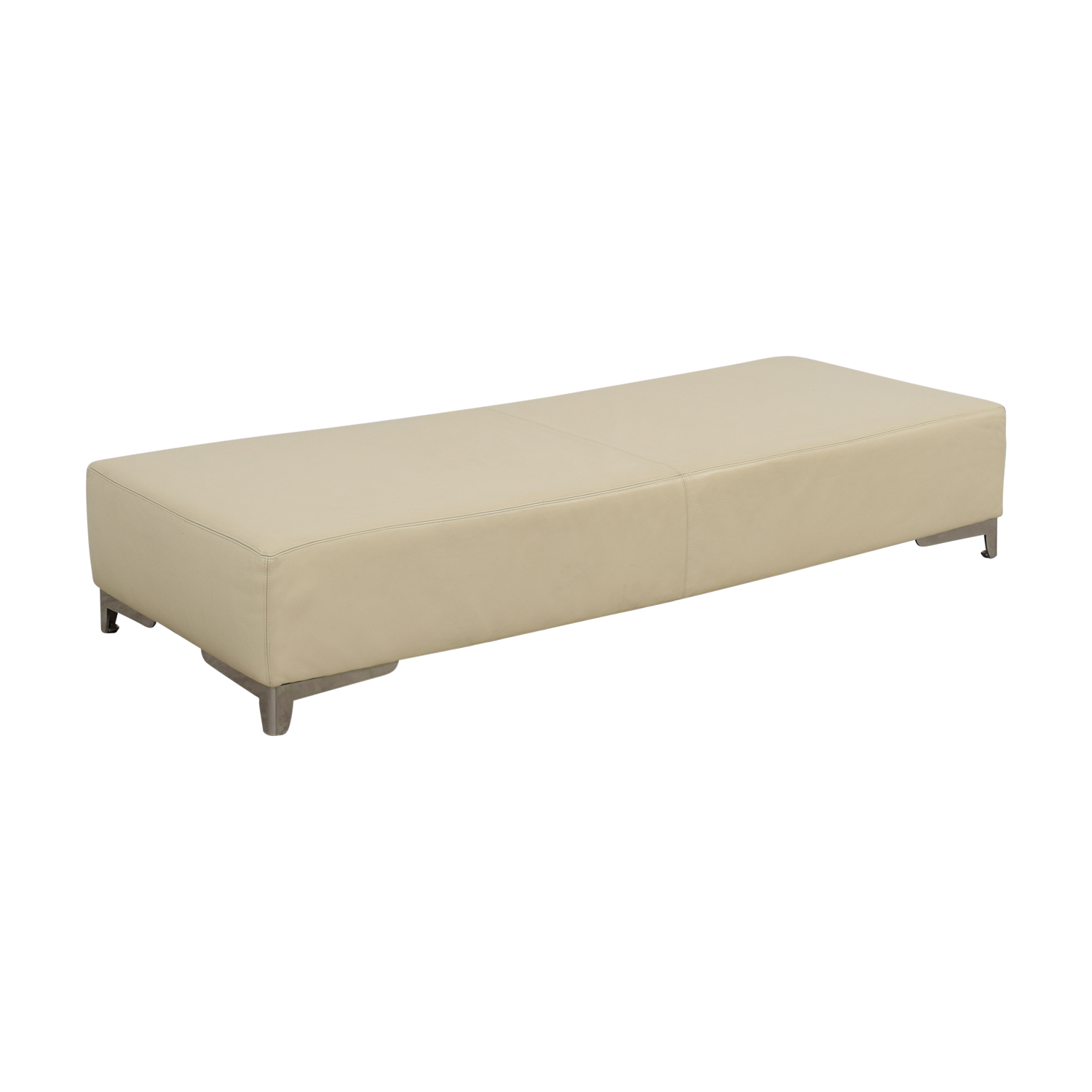 Beige Leather Coffee Table on sale