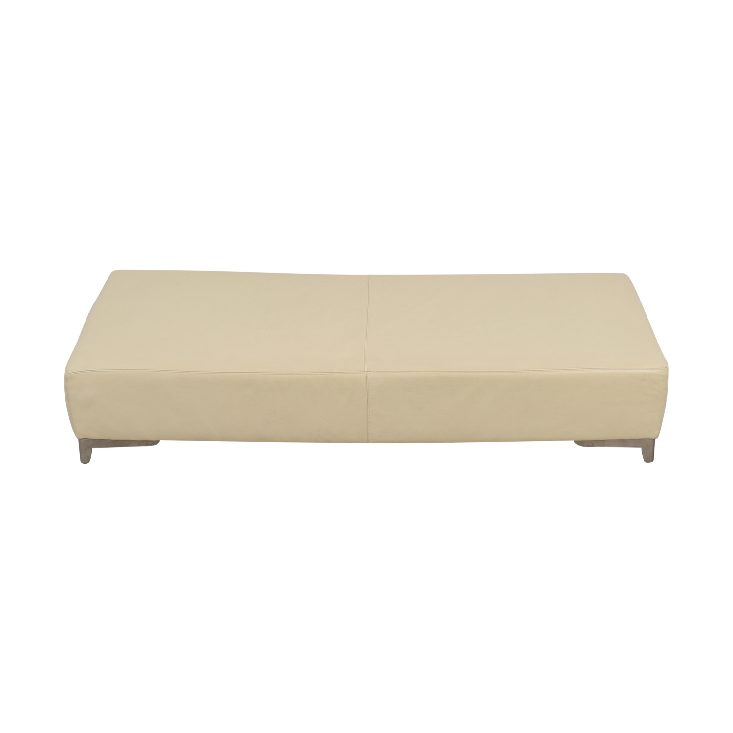 Beige Leather Coffee Table / Coffee Tables