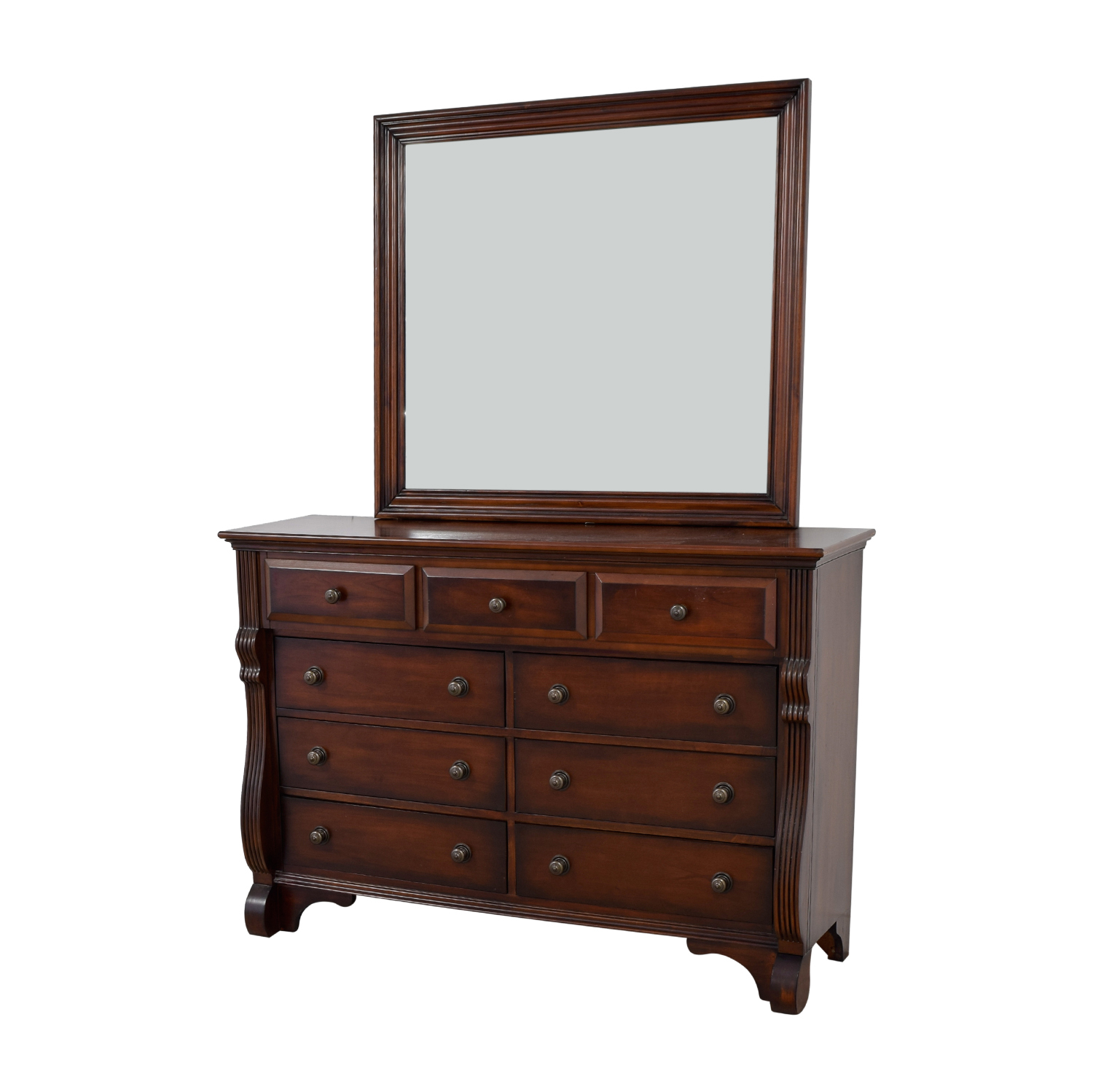 buy Bob's Furniture Bob's Furniture Nine-Drawer Dresser with Mirror online