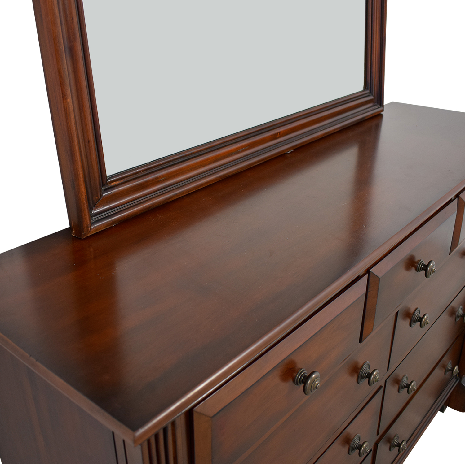 Bob's Furniture Bob's Furniture Nine-Drawer Dresser with Mirror coupon