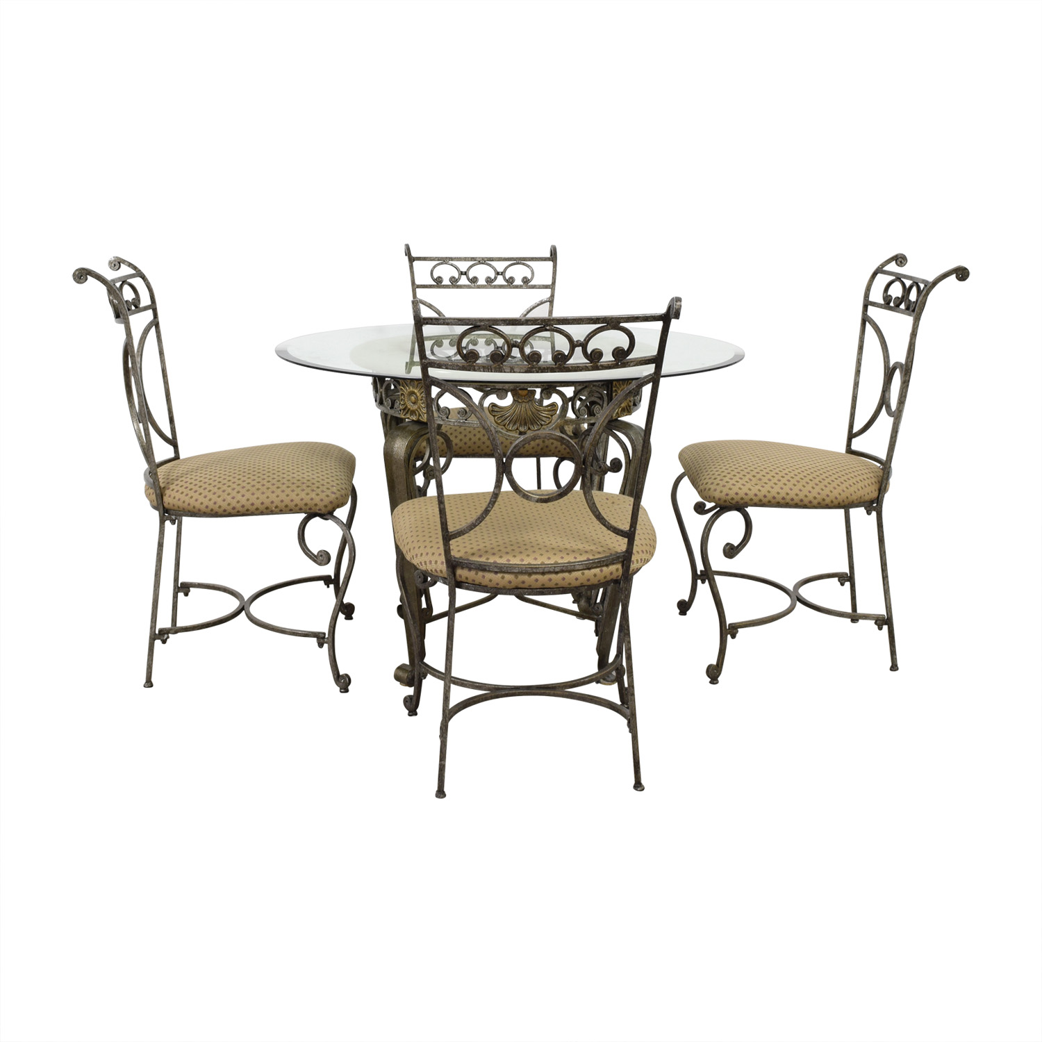 buy Glass Five-Piece Dining Set  Dinner Tables