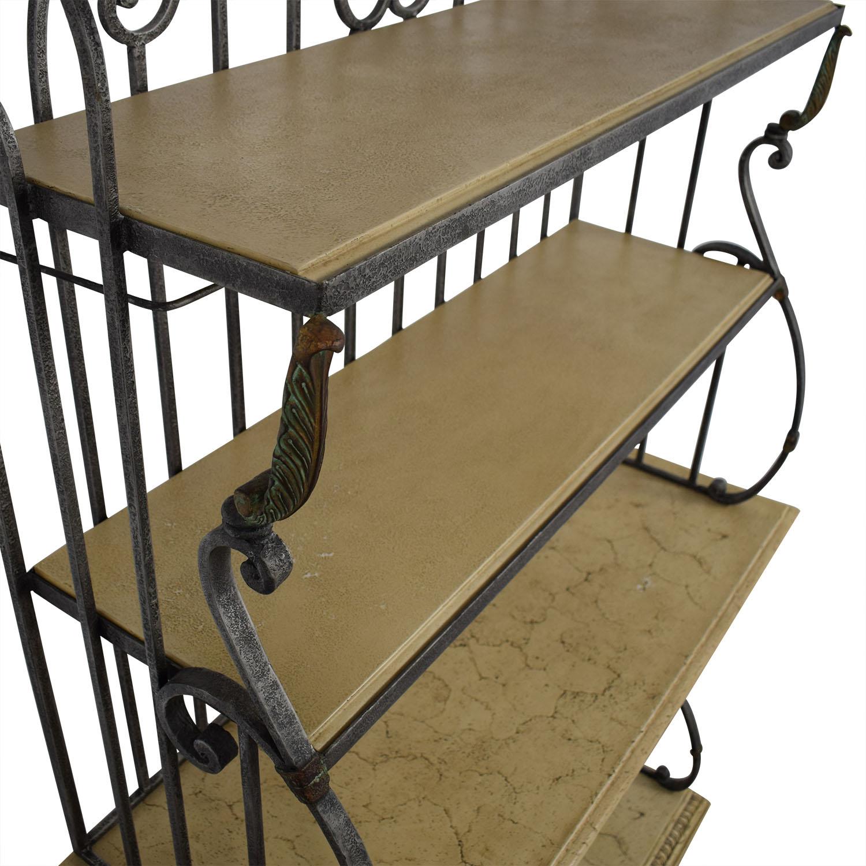 shop Beige and Steel Bar Hutch  Storage